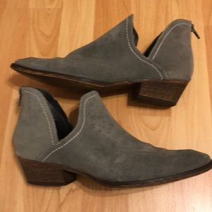 Firth Suede Ankle Booties, size 10